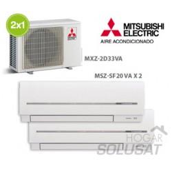 2x1 MXZ-2D33VA - 2 x (MSZ-SF20VA)