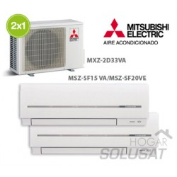 2x1 MXZ-2D33VA - MSZ-SF15VA - MSZ-SF20VA