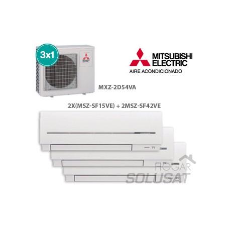 3x1 MXZ-2D54VA - 2 x (MSZ-SF15VA) - MSZ-SF42VA