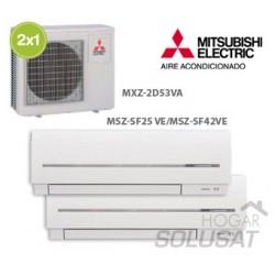2x1 MXZ-2D53VA - MSZ-SF25VA - MSZ-EF42VA